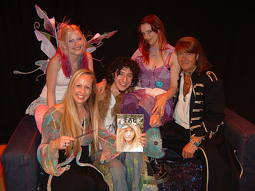 Kim Cooper, Flavia-Kate Peters, Oli Le Fay and Felicity Fyr Le Fay with Nick Ashron